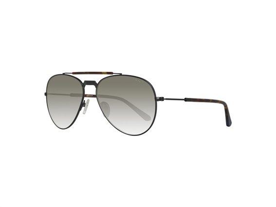 Gant Ανδρικά Γυαλιά Ηλίου με Μαύρο Μεταλλικό σκελετό, Olive Φακό με 100% προστασία UV και Θήκη