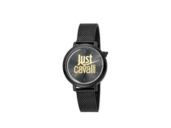 Just Cavalli Γυναικείο Ρολόι Χειρός με Μαύρο Καντράν με μπρασελέ σε μαύρο χρώμα, JC1L007M0085