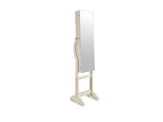 Κοσμηματοθήκη Μπιζουτιέρα έπιπλο με Ολόσωμο καθρέφτη, LED Φωτισμό 36x35x150cm, Gift Decor