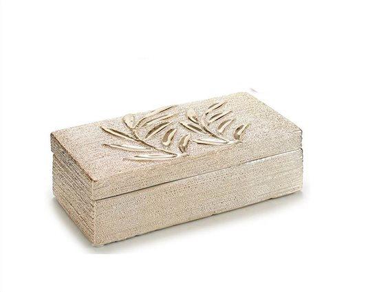 Θήκη Κοσμημάτων Μπιζουτιέρα σε ορθογώνιο σχήμα με καπάκι 10x20.5x6cm
