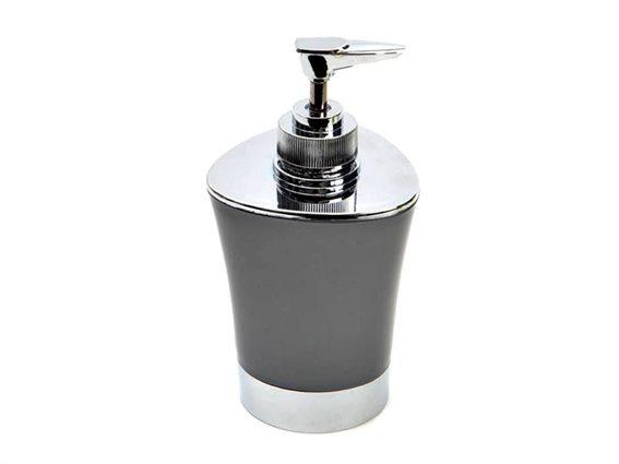 Διανεμητής σαπουνιού Dispenser, Δοχείο για κρεμοσάπουνο με αντλία σε Γκρι χρώμα