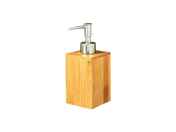 Διανεμητής σαπουνιού Bamboo Dispenser, Δοχείο για κρεμοσάπουνο με αντλία, από Ξύλο Μπαμπού