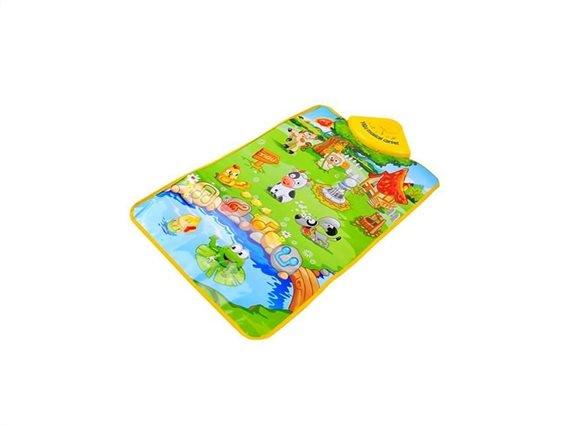 Παιδικό Χαλί Δραστηριοτήτων με ήχους, Παίζω και μαθαίνω τους ήχους από την Φάρμα των ζώων,  60x40 cm