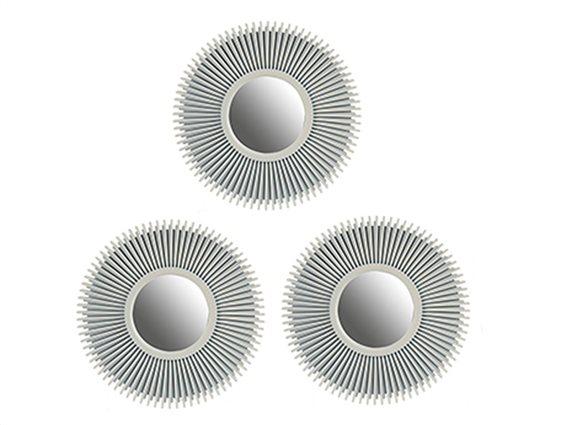 Σετ επιτοίχιοι Καθρέπτες 3 τεμαχίων, Στρογγυλοί, Κατάλληλοι για διακόσμηση, 25.3cm, Gift Decor
