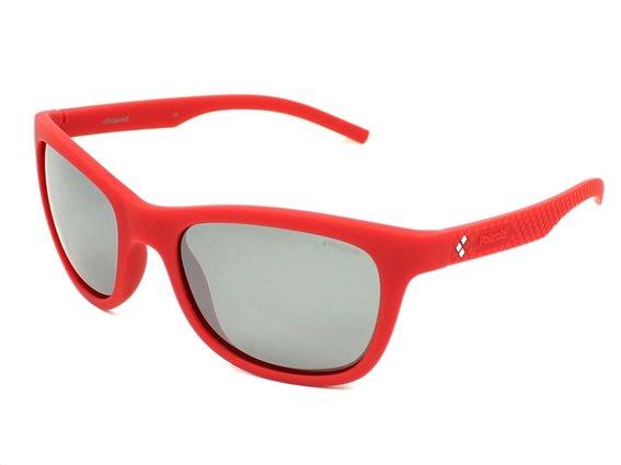 Polaroid Unisex Γυαλιά Ηλίου με Ορθογώνιο Φακό και προστασία UV 400, σε χρώμα Κόκκινο