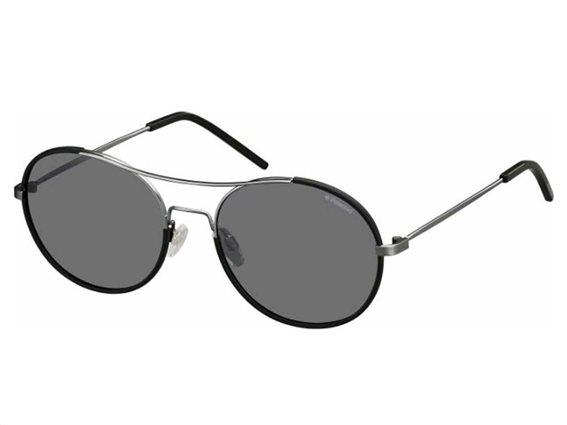 Polaroid Γυαλιά Ηλίου με Μεταλλικό Σκελετό και προστασία UV 400, σε χρώμα Μαύρο, PLD 1021/S KJ1 55