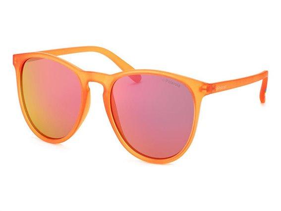 Polaroid Unisex Γυαλιά Ηλίου με Ορθογώνιο Φακό Καθρέπτη και προστασία UV 400, σε χρώμα Πορτοκαλί