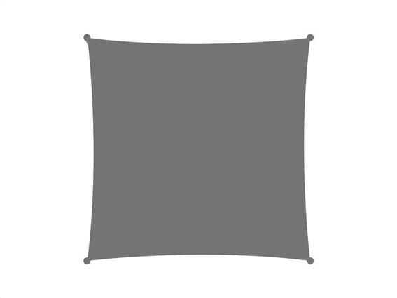 Αντηλιακή Τετράγωνη Τέντα Σκίαστρο, σε γκρι χρώμα, διαστάσεις 3x3 μέτρα