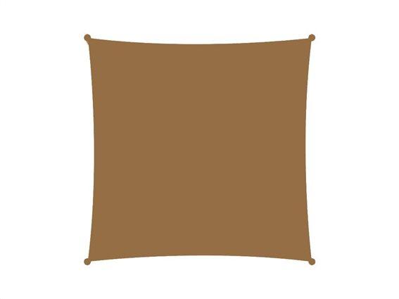 Αντηλιακή Τετράγωνη Τέντα Σκίαστρο, στο χρώμα της άμμου, διαστάσεις 3x3 μέτρα