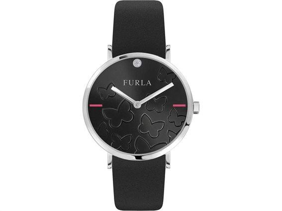 Furla Γυναικείο Ρολόι Χειρός 36mm σε μαύρο χρώμα, Giada Butterfly R4251113511
