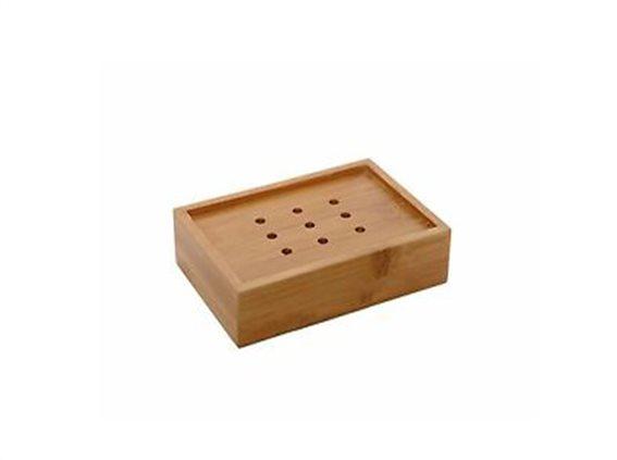 Bamboo Ξύλινη Σαπουνοθήκη Μπάνιου,  10.9x7.4x2.9 cm