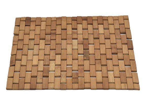 Bamboo Αντιολισθητικό Πατάκι Μπάνιου,  45x45 cm