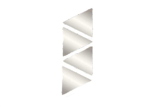 Σετ Καθρέπτες Μπάνιου 4 Τεμαχίων, σε σχήμα τριγώνου,  20x17.5 cm