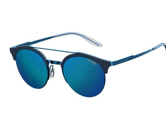 Carerra Unisex Γυαλιά Ηλίου τύπου Aviator με μεταλλικό σκελετό, στρογγυλό φακό, σε χρώμα μπλε