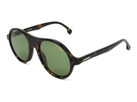 Carerra Unisex Γυαλιά Ηλίου με πλαστικό σκελετό, στρογγυλό φακό, σε χρώμα dark havana, 142/S 086 50