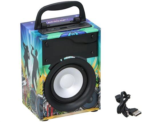 Dunlop Ηχεία Bluetooth 12394 Πολύχρωμο