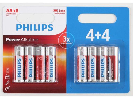 Philips Μπαταρίες Power Alkaline LR/AA 8 τεμαχίων, LR6P8BP10