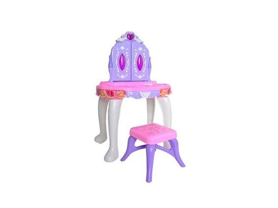 Στούντιο Ομορφιάς με σκαμπό και αξεσουάρ, με ήχο, 32x43x60 cm,  για παιδιά από 3 ετών