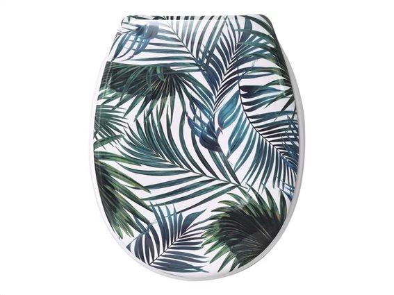 Πλαστικό καπάκι λεκάνης μπάνιου με θέμα Tropical,  45.6x37.2x5 cm, 635 Tropicale
