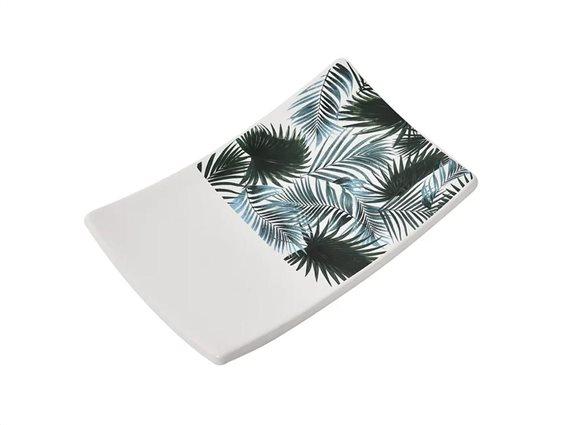 Κεραμική Σαπουνοθήκη, σε τροπικό σχέδια,  13.9x2.5x8.8 cm, Tropicale