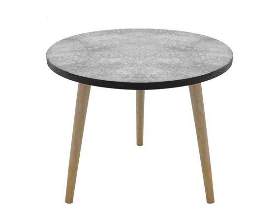 Διακοσμητικό Ξύλινο Τραπέζι Σαλονιού, με 3 πόδια,  39x32 cm, NB1500000