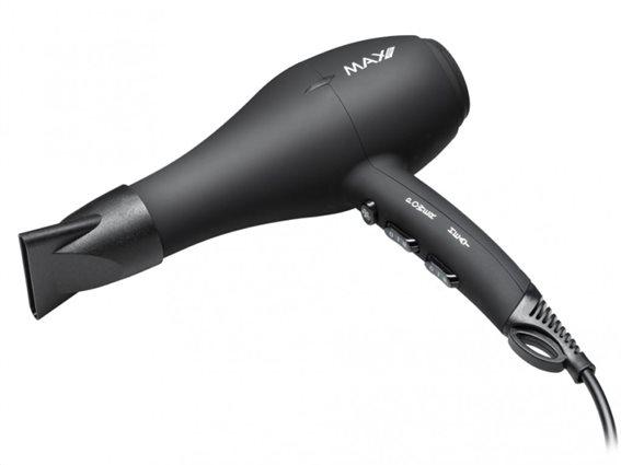 Max Pro MXPRO025 Σεσουάρ Μαλλιών 1600W, ρύθμιση θερμοκρασίας 2 Ταχύτητες Μαύρο