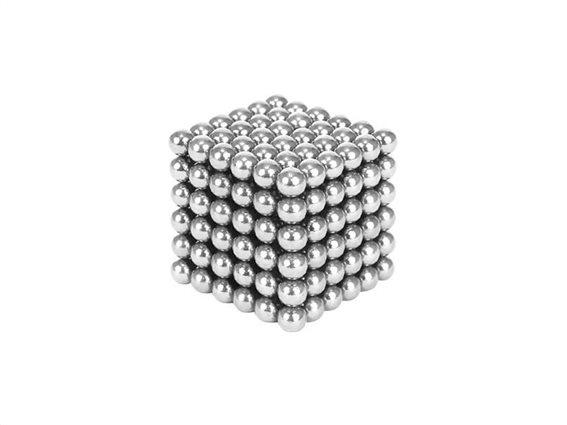 Μαγνητικές Μπάλες Μικρά Σφαιρίδια 3mm σε Ασημί χρώμα, Anti-stress Magnetic Balls