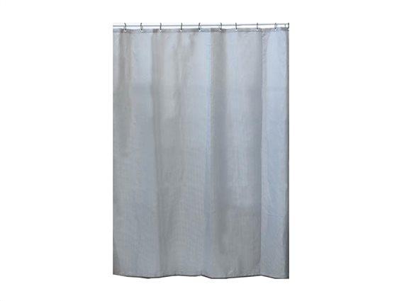 Υφασμάτινη Κουρτίνα Μπάνιου από πολυεστέρα με θέμα Honeycomb Grey, 180x200cm