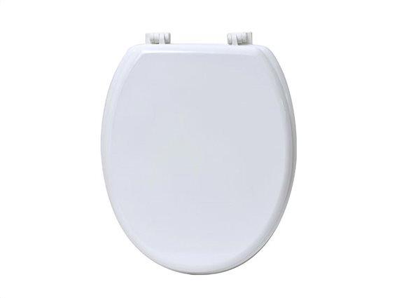 Πλαστικό καπάκι λεκάνης μπάνιου σε Λευκό χρώμα, 45.6x37.2x5 cm
