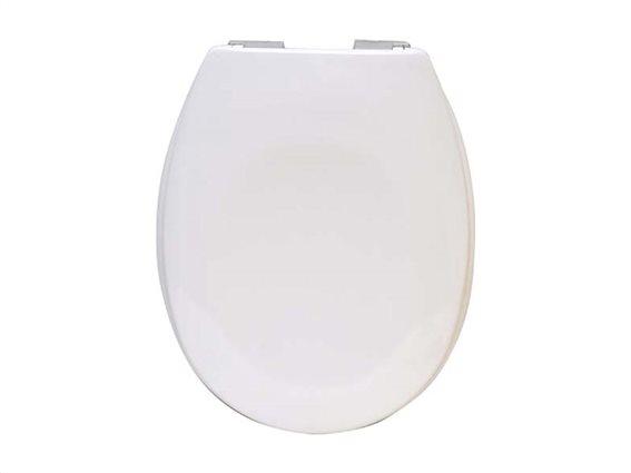 Πλαστικό καπάκι λεκάνης μπάνιου σε Λευκό χρώμα, 45.6x37.2x5cm