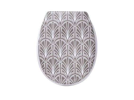 Πλαστικό καπάκι λεκάνης μπάνιου με θέμα Gatsby, 45.6x37.2x5cm