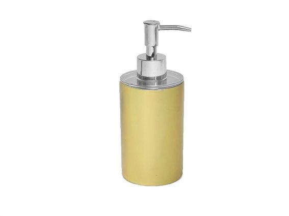 Διανεμητής σαπουνιού Dispenser Δοχείο για κρεμοσάπουνο με αντλία σε  Χρυσό χρώμα