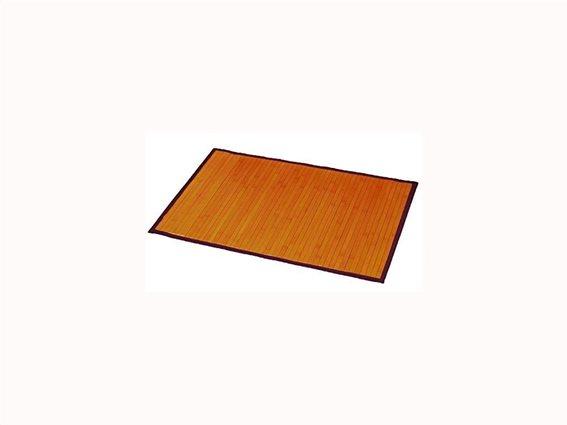 Πατάκι μπάνιου από ξύλο Bamboo σε φυσικούς τόνους διαστάσεων 50x80 cm