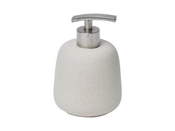 Διανεμητής σαπουνιού Dispenser Δοχείο για κρεμοσάπουνο με αντλία σε κρεμ απόχρωση