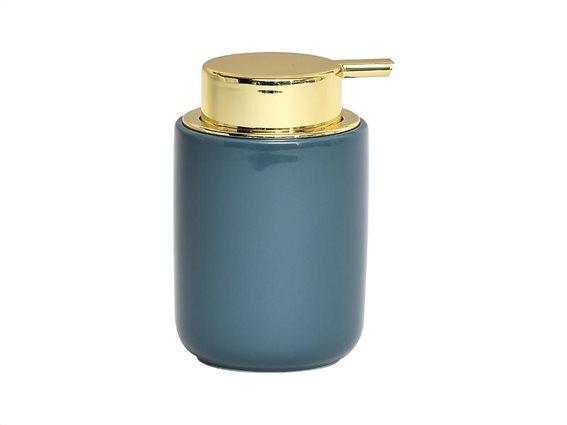 Διανεμητής σαπουνιού Dispenser Δοχείο για κρεμοσάπουνο με αντλία σε μπλε χρώμα