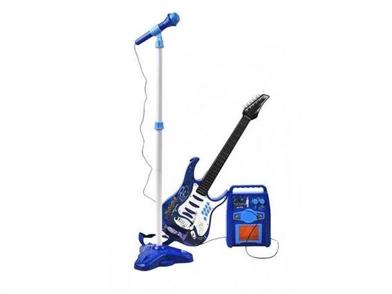 Σετ Παιδική Ηλεκτρική Κιθάρα με μικρόφωνο και ενισχυτή, σε μπλε χρώμα