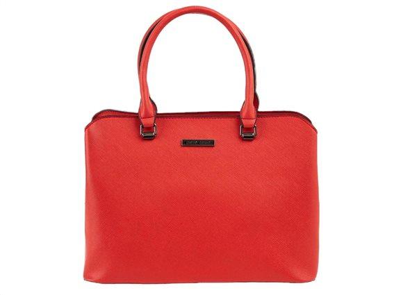 Pierre Cardin Γυναικεία Τσάντα Ώμου,Tote Bag,με 3 θέσεις,κόκκινο χρώμα, διαστάσεις 32x24x15 εκατοστά