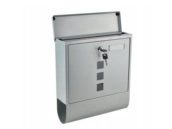 Γραμματοκιβώτιο από Ανοξείδωτο Ατσάλι με κλειδαριά και θέση για εφημερίδα, 10x30.7x34 cm