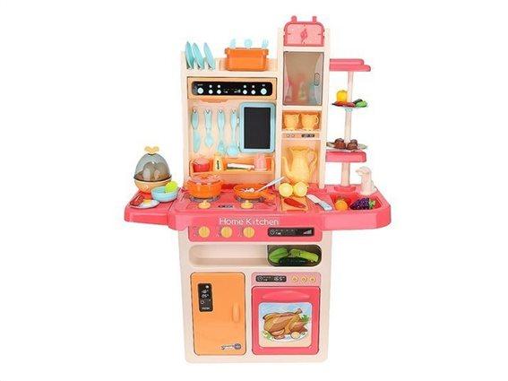 Σετ Παιδική Κουζίνα 65 Τεμαχίων με LED φωτισμό και ήχους, 30x71x93 cm
