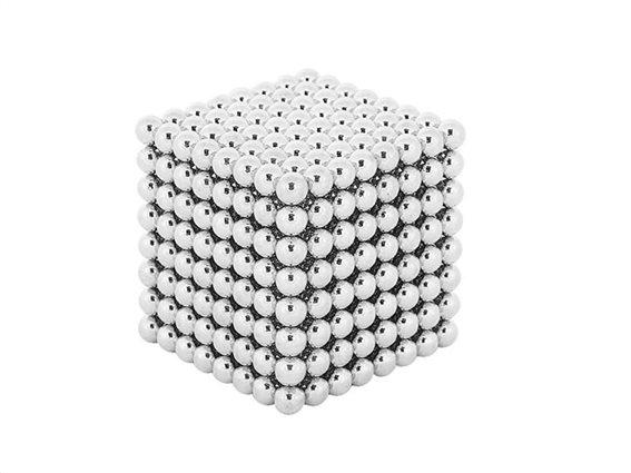 Μαγνητικές Μπάλες Μικρά Σφαιρίδια 5mm 512 τεμαχίων σε ασημί χρώμα
