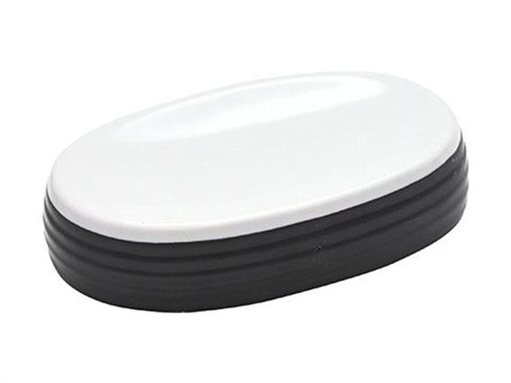 Σαπουνοθήκη για το Μπάνιο με ρίγες σε ασπρόμαυρο χρωματισμό, 12.5x8.8x2.8 cm