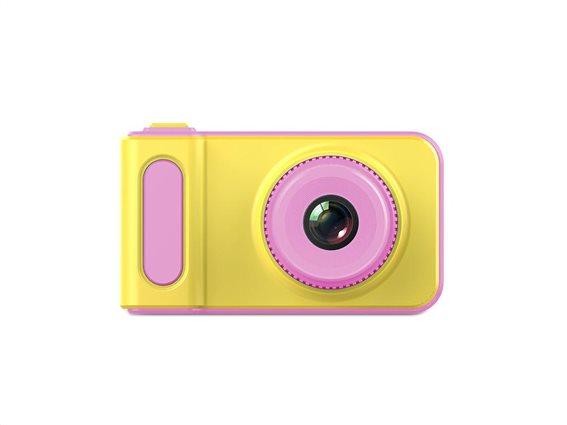 Παιδική Φωτογραφική Μηχανή και Κάμερα με οθόνη LCD σε ροζ χρώμα, 8x4.5x4.5 cm