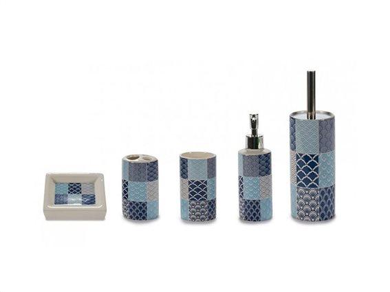 Σετ Αξεσουάρ Μπάνιου 5 τεμαχίων με γεωμετρικά σχέδια σε συσκευασία δώρου