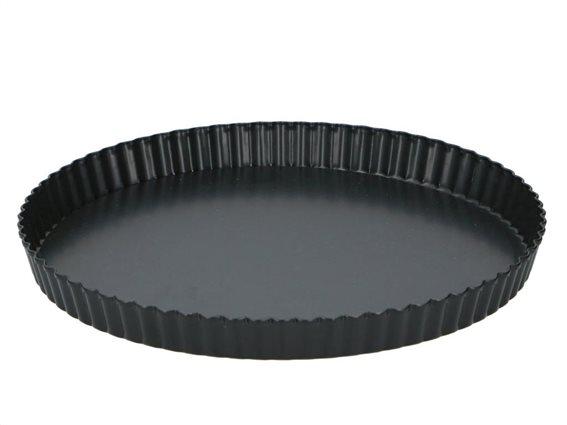 Alpina Αντικολλητική Φόρμα Ψησίματος για Quiche σε μαύρο χρώμα, 28x3.5 cm