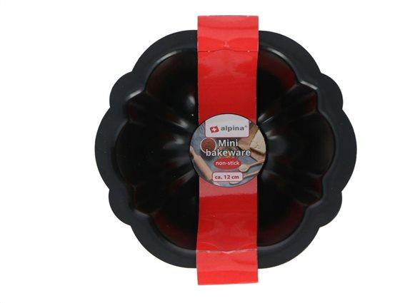Alpina Μίνι Φόρμα Ζαχαροπλαστικής με αντικολλητική επίστρωση σε μαύρο χρώμα Κέικ