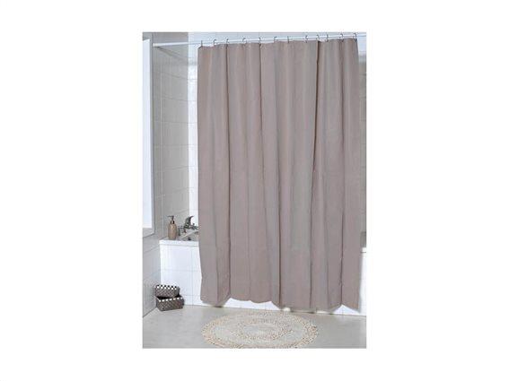 Κουρτίνα Μπάνιου σε καφέ χρώμα, 180x200 cm