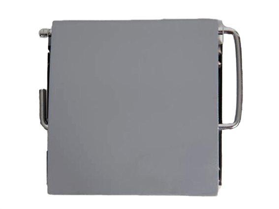 Επιτοίχια Βάση για Χαρτί Υγείας σε γκρι χρώμα, 12x11.5 cm
