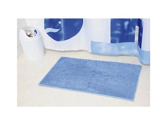 Πατάκι Μπάνιου με Μικροϊνες σε μπλε χρώμα, 45x75 cm