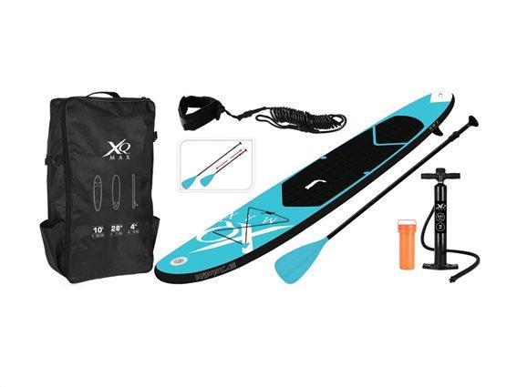 Σετ Φουσκωτή Σανίδα SUP με αξεσουάρ και Τσάντα Μεταφοράς σε Μπλε χρώμα, XQ Max SUP Board Set