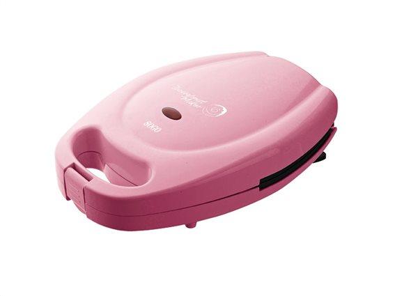 Sogo Συσκευή παρασκευής Donuts, Donut Maker 7 θέσεων 650 Watt, σε ροζ Χρώμα, SS-7100